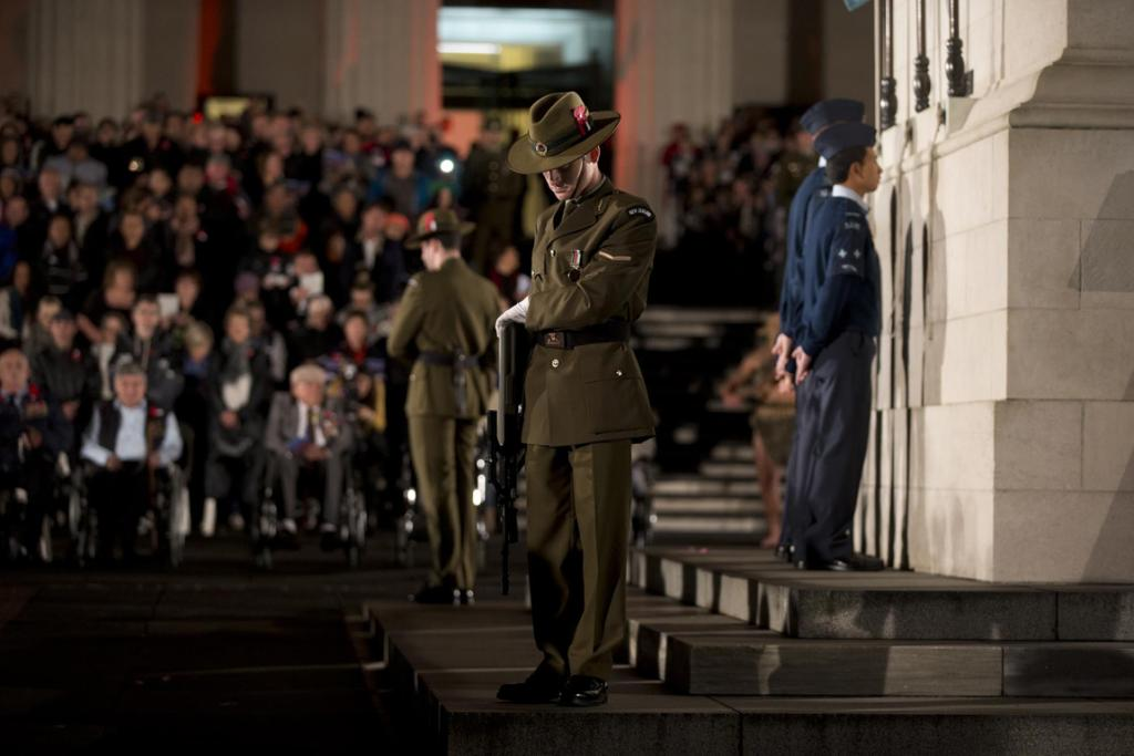 The Auckland  Anzac Dawn Service at the Domain