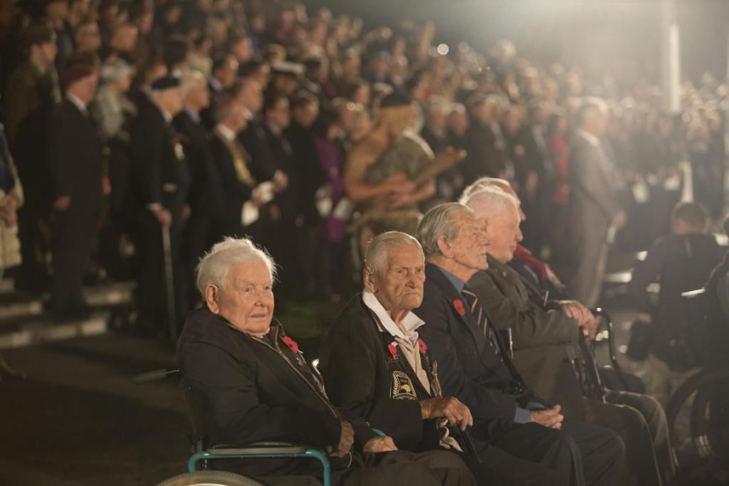 WWII veterans at the Auckland  Anzac Dawn Service at the Domain