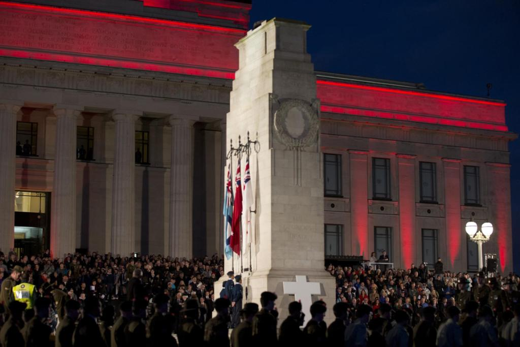 The Auckland  Anzac Dawn Service gets underway at the Domain
