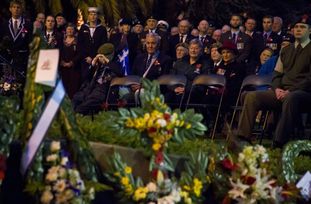 The dawn service at Anzac Park this morning.
