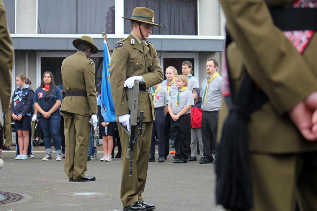 Taupo had large numbers attend both the dawn and 10.30am ANZAC services, with even the rain sweeping through not enough to deter locals from attending.