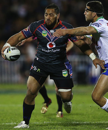 HARD MAN: Warriors prop Suaia Matagi has had a troubled past but rugby league has been his saviour.