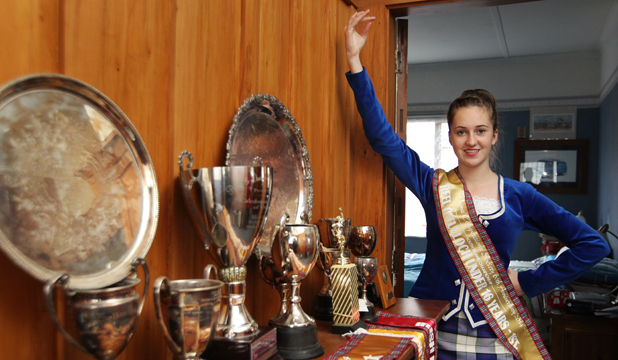 DANCING ELITE: Ashleigh Vaughan, 15, is one of 30 New Zealanders to be selected to perform at the Edinburgh Tattoo in August.