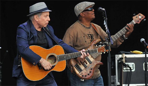 PAUL SIMON: Arrested along with his wife Edie Brickell on disorderly conduct charges.