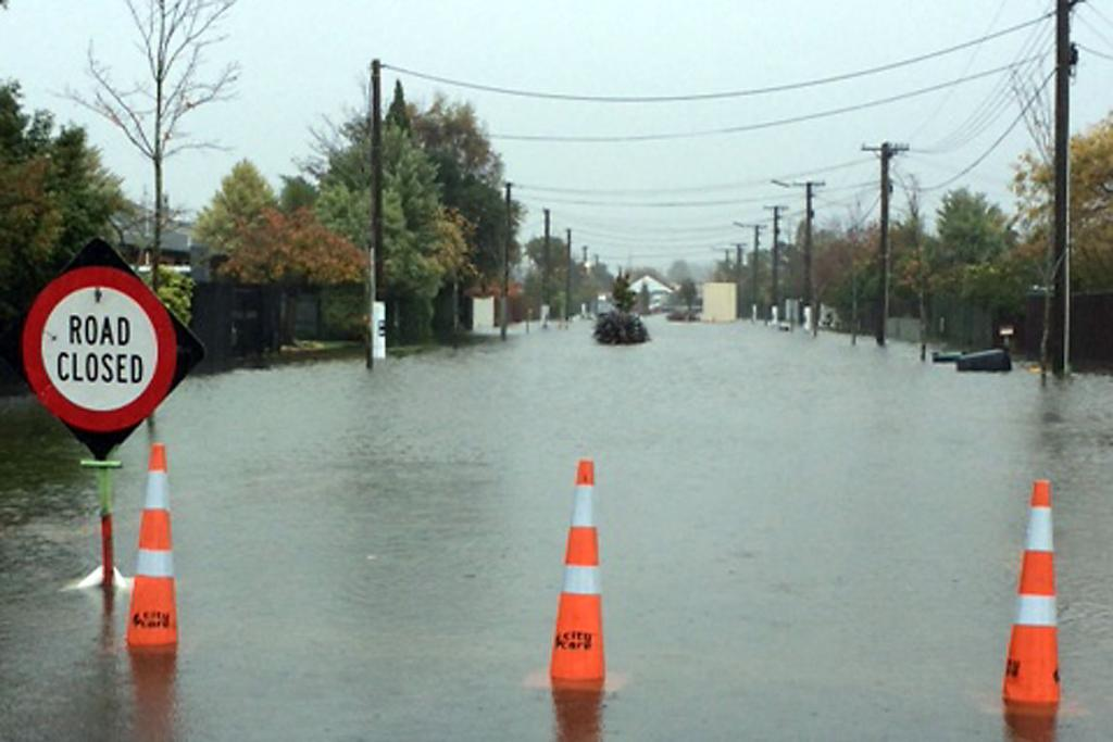 NOT AGAIN: Carrick St under water.