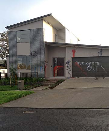 LASHING OUT: New houses in Glen Innes have been targeted by vandals.