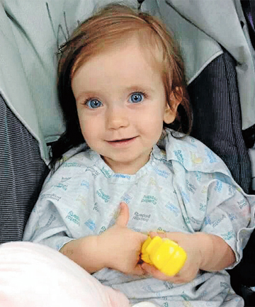 BABY'S BATTLE: Adelaide Ketel, 13 months old, is very sick in Christchurch Hospital.