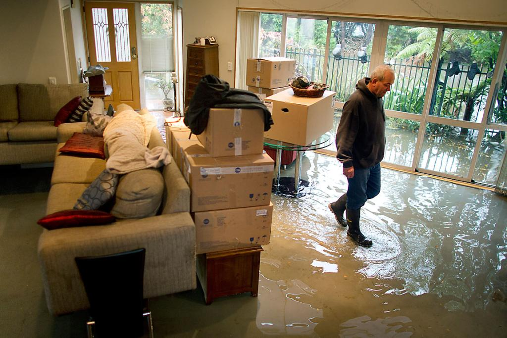 LINDSAY RUSH: His Slater St home has flooded for the ninth time.