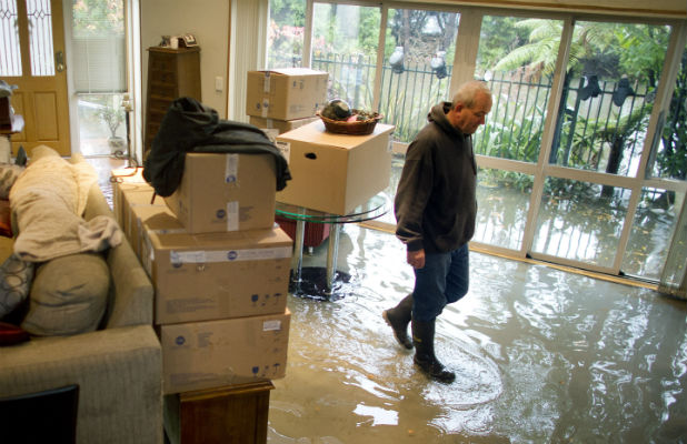 Flooding in Lindsay Rush's Christchurch home