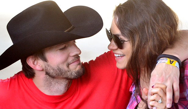 Loved Up Ashton Kutcher And Mila Kunis Share A Moment At The Recent Stagecoach Country