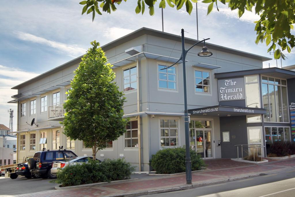 The newest Timaru Herald building on Sophia St.