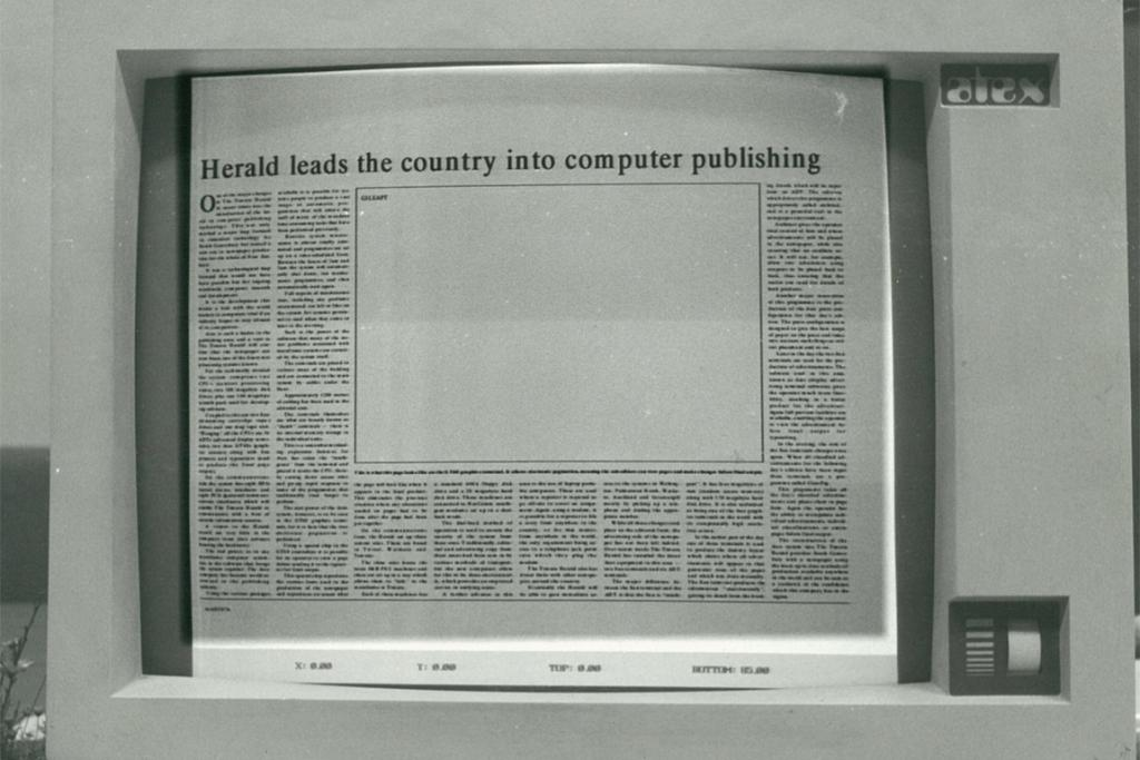 The Herald becomes first daily paper in New Zealand to be published using technology allowing journalists to input copy directly into the paper's production computer in July 1988.