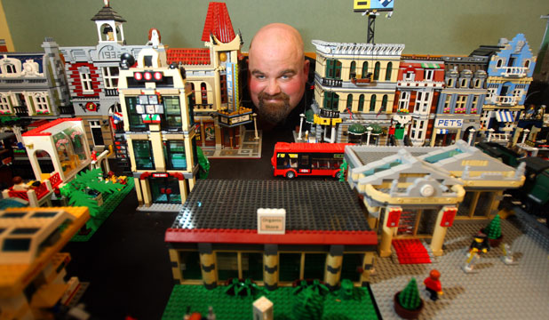 Jimmy Paton with part of his $60,000 Lego collection