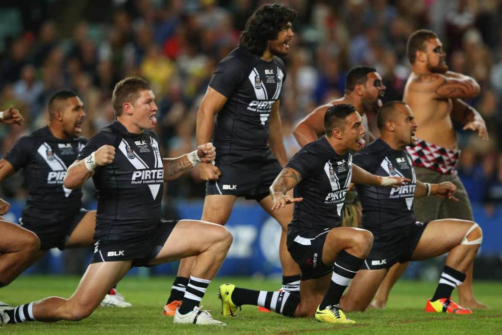 The Kiwis perform the haka ahead of the Anzac Test against the Kangaroos.