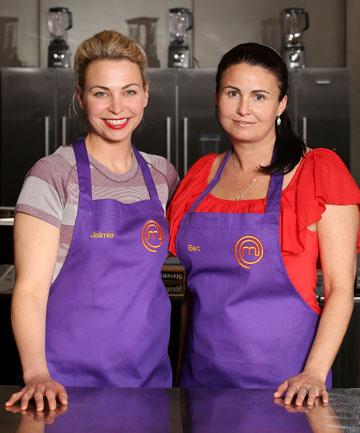 BATTLERS: Jaimie Stodler and Becs Stanley put up a fight in the MasterChef final.