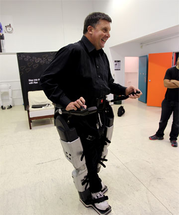 REX BIONICS: Paralympian David McCallum was the first person to purchase a set of bionic legs from the North Shore company.