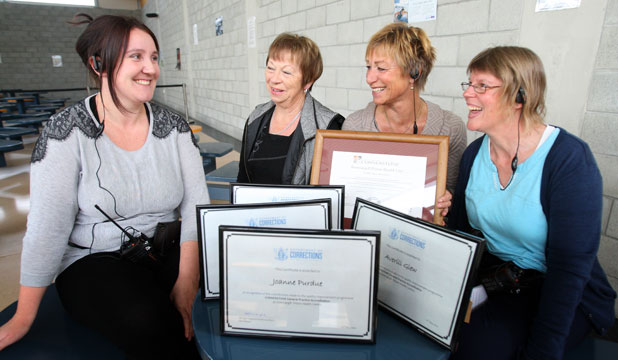 'FANTASTIC WORK': Invercargill Prison nurses Anna Calvert, Margaret Black, Joanne Purdue and Averill Glew received awards for their work towards the prison gaining the Royal New Zealand College of General Practitioners Cornerstone Accreditation.