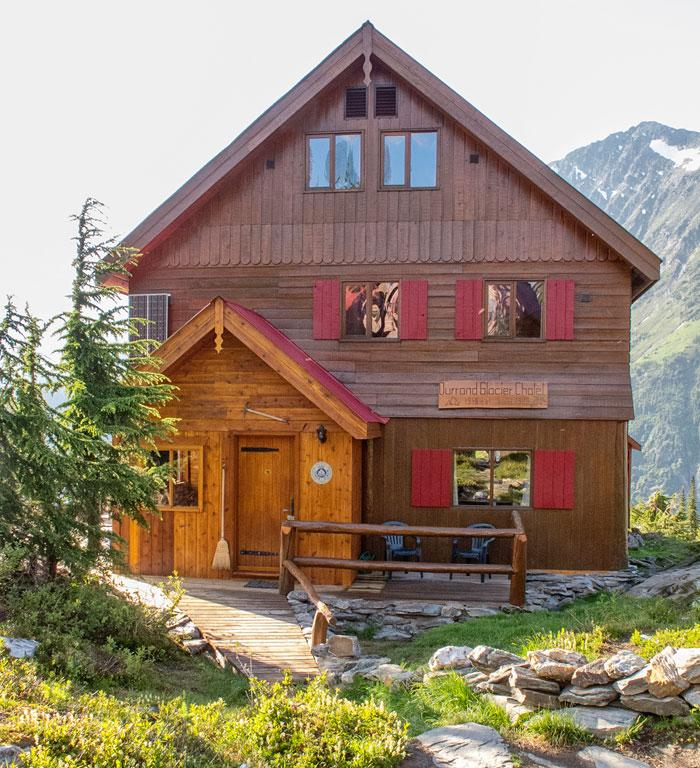 The Durrand Glacier Chalet, at about 6,400 feet, can house more than 20 guests.
