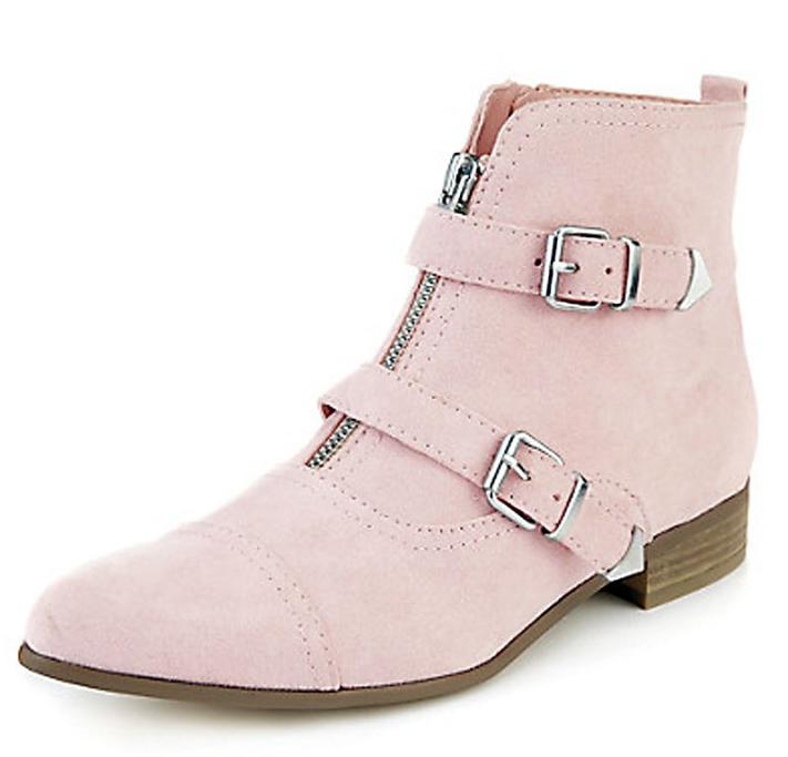 MARKS & SPENCER Pointed-Toe Monk Ankle Boots