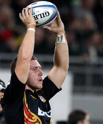 BOLTER: Chiefs hooker Nathan Harris has been named in the All Blacks training squad ahead of the three-test series against England.