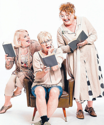 WATCH OUT: Lynda Milligan, left, Jude Gibson and Geraldine Brophy are the Grumpy Old Women in the stage show 50 Shades of Beige, at the Floor Pride Civic Theatre in Blenheim on Sunday, June 1.