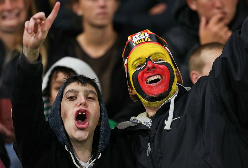Chiefs fans delighted to get the chance to cheer their team on in New Plymouth.