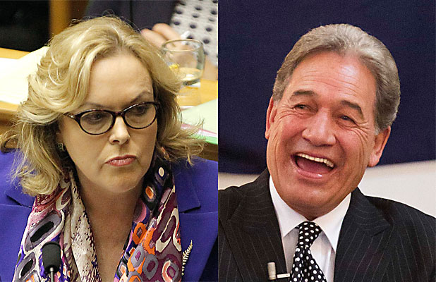 Judith Collins and Winston Peters
