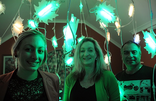 LIGHTS ON: Colour Fall by Courtney, Di and Steve Norman will be on show in Sydney.