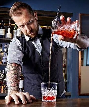 IN LONDON: A bartender at Talented Mr Fox gets inventive.