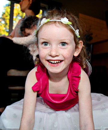 Ellah Foreman, 4, has an Epipen just in case she eats something which contains nuts or eggs, both of which she is allergic to.