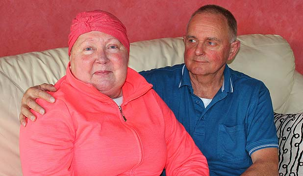 BRAVE: Ann Claxton is battling an aggressive tumour but says there are many people in the world worse off than her.
