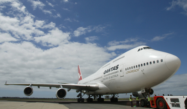 FLYING HIGH: The Qantas Boeing 747-400 in all its glory.