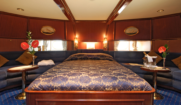 ONBOARD COMFORTS: There is no sacrificing  luxury in the name of maritime credibility on board the Star Clipper.