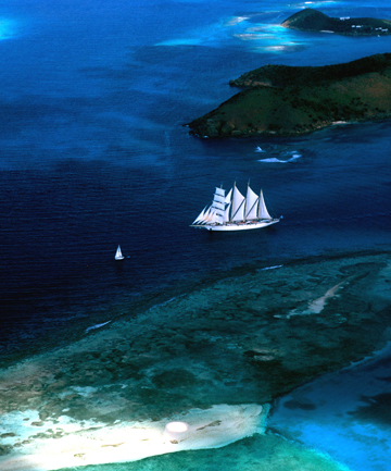 MAJESTIC: The Star Clipper embraces the romance of true sailing ships as she plies the waters of the Greek islands. b