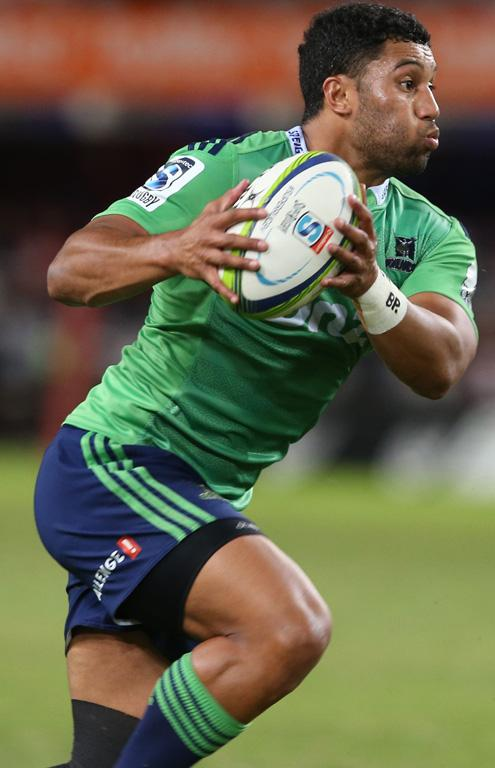 Lima Sopoaga of the Highlanders during the Super Rugby match between the Sharks and Highlanders.