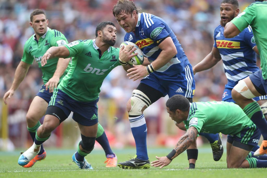Duane Vermeulen of the Stormers in action during the Super Rugby match between the Stormers and Highlanders.
