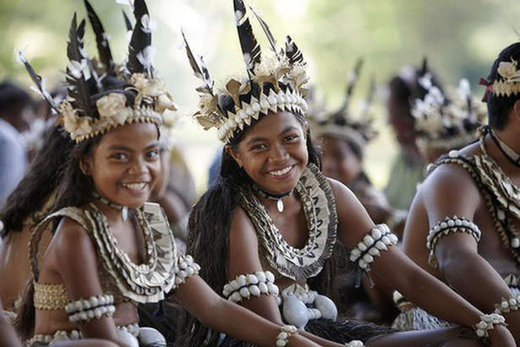 CULTURAL STOP: Fijian performers at a village visited by Tui Tai Expedition Cruises.