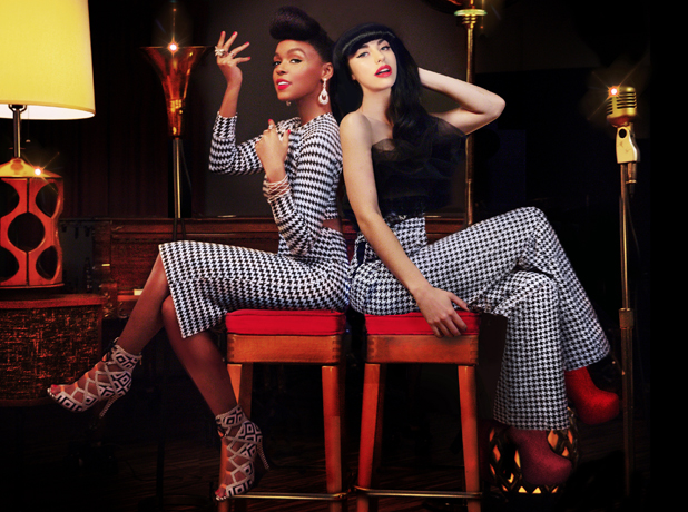 90S CHICK: Kimbra, right, will be at Vector Arena with Janelle Monae on May 24.