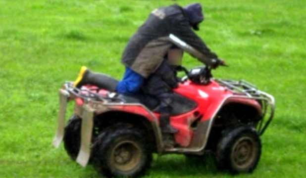 HELMET HIT: Marlborough farm worker Rangi Holmes has been fined $15,000 for not wearing a helmet while riding a quad bike at work and carrying a helmetless child as a passenger.
