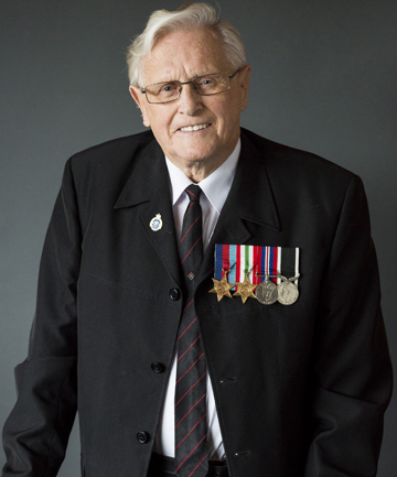 STANDING TALL: Official portrait of 91-year-old World War II veteran Jack Bennie, of Timaru, taken as part of the NZIPP Anzac project.