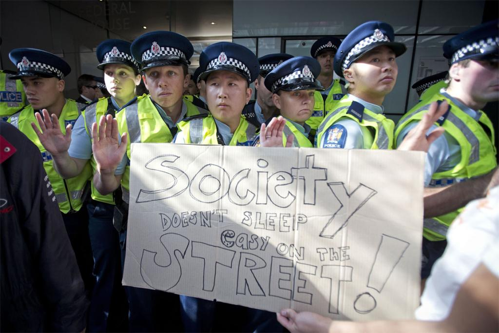 Budget protest Auckland