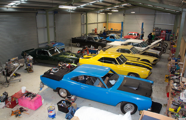 STING: In addition to drugs and chemicals, police have seized $20,000 cash, nine muscle cars, two utes, a BMW vehicle, seven Harley Davidson motorcycles, a quad bike, luxury watches, and a five ounce gold ingot.