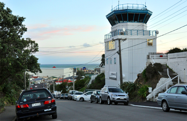 ON THE LOOKOUT: Tirangi Rd is known for the airport's control tower, but also hides a wealth of other history.