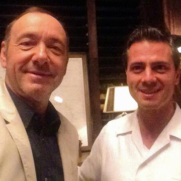 CAUSING A STORM: Kevin Spacey's now-infamous selfie with Mexico President Enrique Pena Nieto.