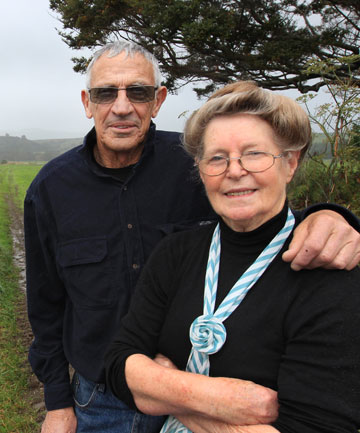HAD ENOUGH: Tuatapere residents Val and Helen McKay are fed up with the stink from a neighbouring dairy farm.