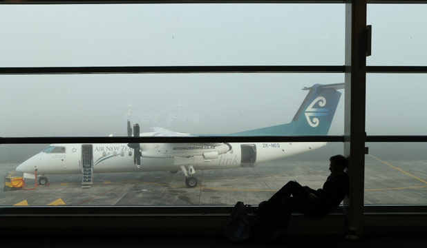 GROUDED: Thick Fog grounded four flights this morning and cancelled one at Hamilton International Airport.