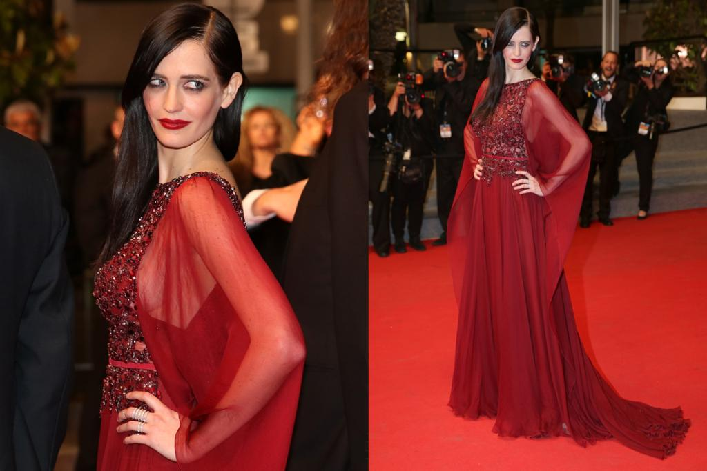 DAY FOUR - THE GOOD: While we're not completely sold on the billowy arm fabric, Eva Green looked mesmerising in this blood red Elie Saab gown. The embellished bodice is rather beautiful, and her sleek hair, statement lips and understated accessories are faultless.