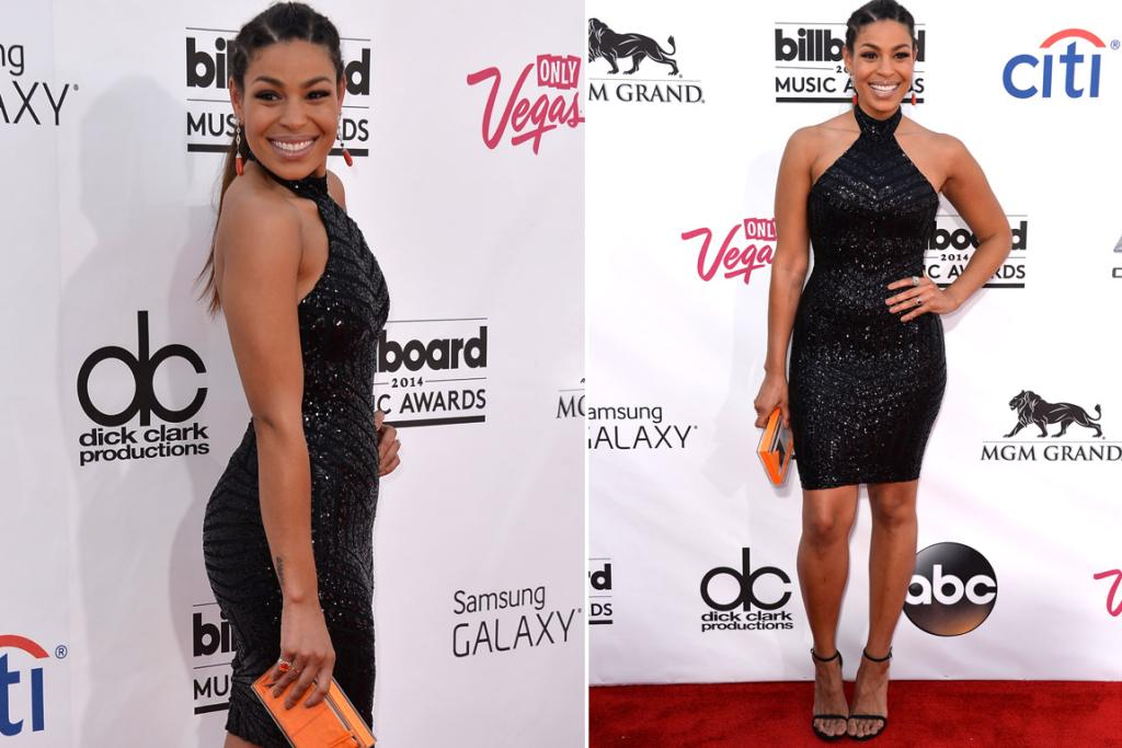THE FUN: Sequin + bodycon is never going to be my fave, but Jordin Sparks looks pretty amazing in this Michael Costello dress, so credit where credit's due. I think the thing that keeps this on the right side of the taste line for me are her cornrows - they add an element of fun to an otherwise laying-the-sexy-on-thick dress.