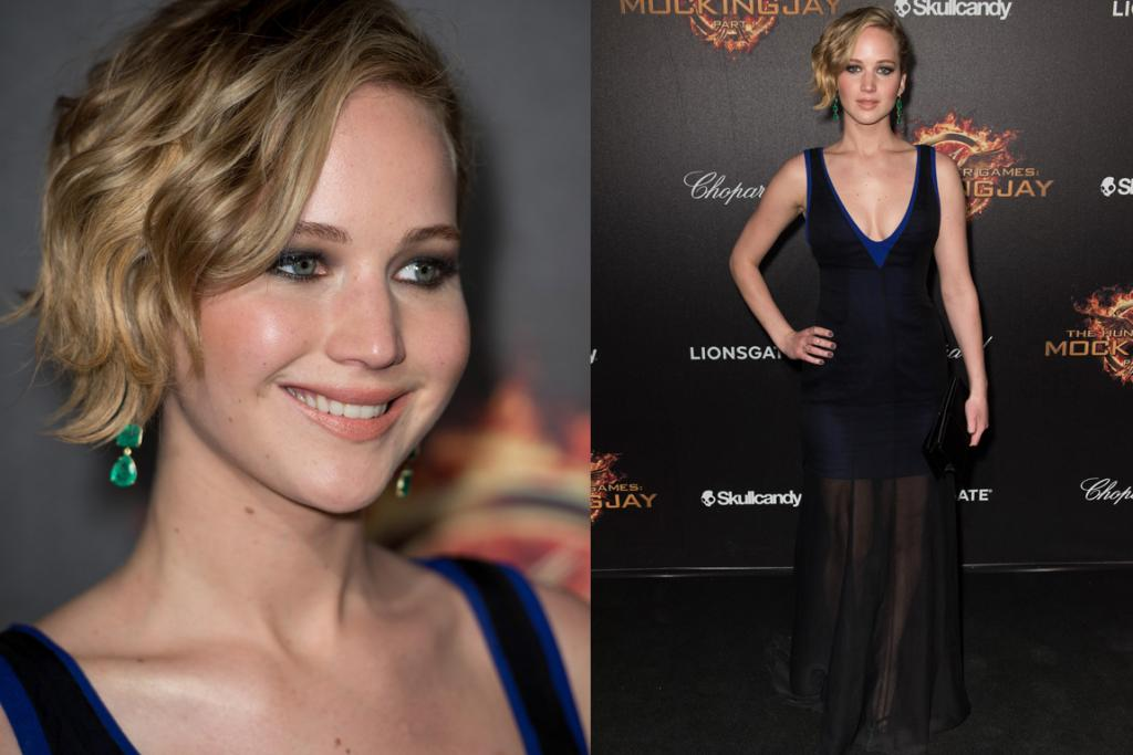 DAY FOUR - THE MEH: Jennifer Lawrence's hair, makeup and accessories are fresh and slightly quirky - exactly what you expect from the star. The dress on the other hand, well, we're just not sold. Designed by Dior, it consists of a sheer black tank dress layered over a royal blue crepe mini - and while the neckline is undeniably flattering, the mesh overlay skirt leaves a lot to be desired. There are so many silhouettes we'd love to see Jen experiment with, but this is not one of them.