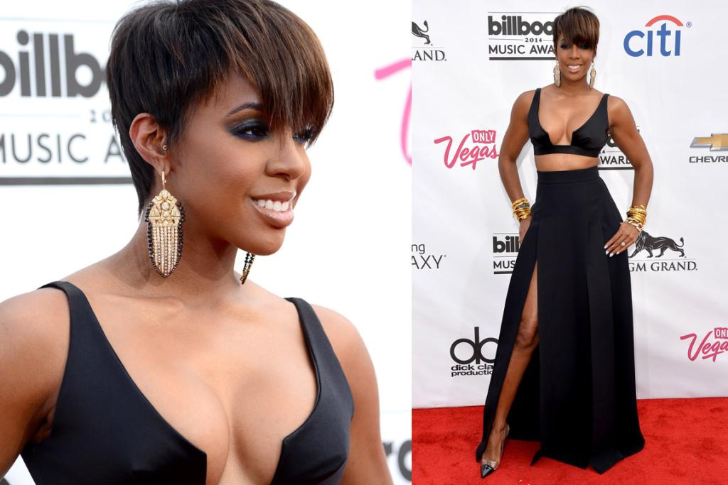THE BAD: I'm all about Kelly Rowland, and her top, skirt combo = fine. Not fussed (at least she just went for top-half cleavage. Please see Nicki Minaj to see what I'm harping on about). But that hair?! The worst. It's very Fantasia Barrino (except even Fantasia doesn't wear her hair like that any more).